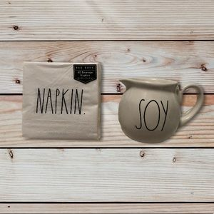 New Rae Dunn Napkin and Soy creamer pitcher